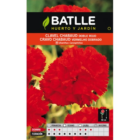 CLAVEL CHABAUD DOBLE ROJO