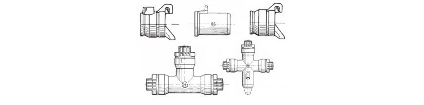Tubo aluminio de medio giro y accesorios