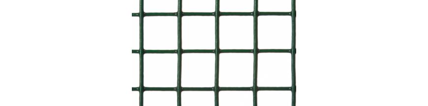 Malla electrosoldada galvanizada plastificada